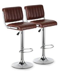 2 iKayaa PU Leather Swivel Bar Stools for $77