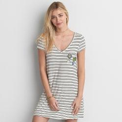 AEO Women's Striped Cross-Back Dress for $14