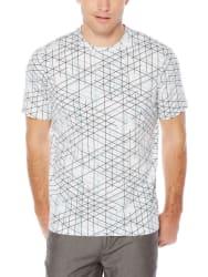 Perry Ellis Men's Striped Pima Crew T-Shirt $17