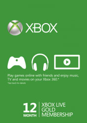 12-Month Xbox Live Gold Membership for $43