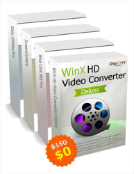 WinX HD Video Converter Deluxe Kit for PC for free