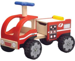 Wonderworld Fire Engine Ride-On for $35