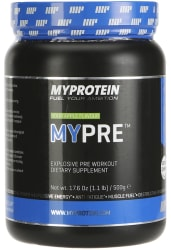 2 Myprotein Mypre Pre-Workout 1.1-lb. Tubs for $39