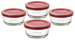 Anchor Hocking 8-Piece Glass Storage Set for $8
