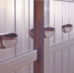 4 BrylaneHome Outdoor Solar Sconces for $15