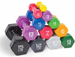 Cap Barbell Vinyl-Coated Dumbbells from 85 cents