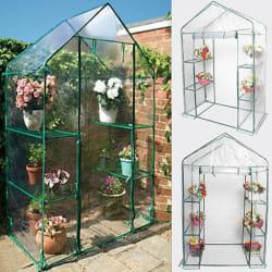 Goplus 4 Shelves Walk In Greenhouse $39