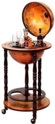 "36"" Wood Globe Wine Bar Stand for $65"