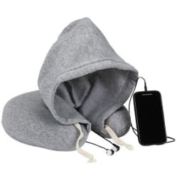 1Voice Travel Neck Pillow w/ Hood & Ear Buds $25