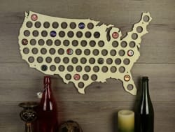 Beer Cap State Map for $25