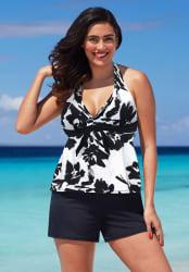 Shore Club Women's Halter Tankini Top for $16