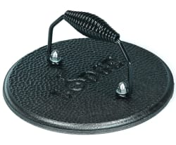 Lodge Cast Iron Round Grill Press for $15