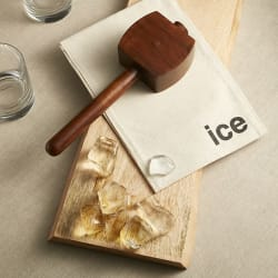 Crate & Barrel Ice Crusher Mallet with Bag for $17