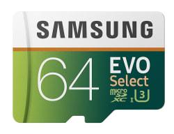 Samsung 64GB UHS-3 Class 10 microSDXC Card $23