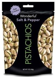 Wonderful Salt & Pepper Pistachios 7-oz. Bag $3