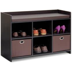 Furinno Econ Storage Bench with Cushion $54
