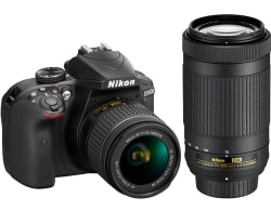 Refurb Nikon D3400 24MP DSLR Camera Bundle $399