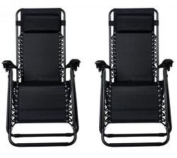 2 Zero Gravity Recliner Outdoor Chairs for $50 + free shipping