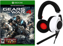 Gears of War 4 for XB1, Plantronics Headset $60