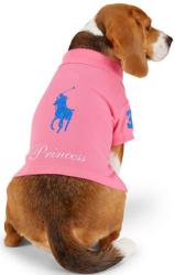 Ralph Lauren Home Big Pony Monogram Dog Polo $20