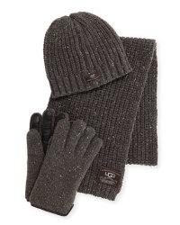 Ugg Men's Beanie, Scarf, and Glove Box Set $96