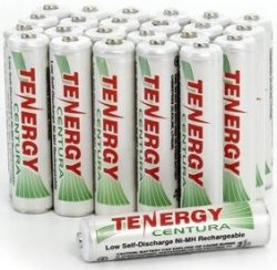 Tenergy Rechargeable AAA Battery 24-Pack for $20