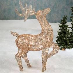 Rattan Deer Lighted Sculpture for $68