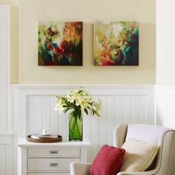 Madison Park Waterbloom Canvas 2-Piece Set for $30