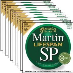 Martin Acoustic Guitar Strings 10-Packs for $35