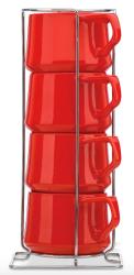 Dansk Kobenstyle 4-Piece Teacup Set for $12
