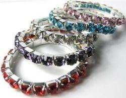 5 Single Row Austrian Crystal Bracelets for $14