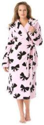 Dreams & Co. Women's Hooded Microfleece Robe $16