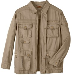 Boulder Creek Men's Cargo Pocket Twill Jacket $35