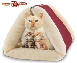 Comfy Paw Cuddly Pet Bed And Mat