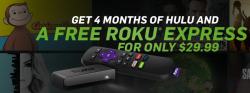 Roku Express w/ 4 Months of Hulu for $30