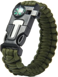 5-in-1 Outdoor Survival Paracord Bracelet for $2
