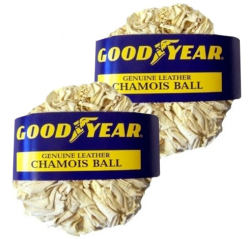 Goodyear Leather Chamois Ball 2-Pack for $5