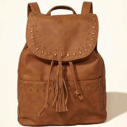 Hollister Vegan Leather Studded Backpack for $15