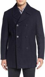 Nordstrom Men's Classic Wool Blend Peacoat $100