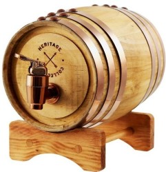 Refinery Mini Whiskey Barrel Decanter for $15