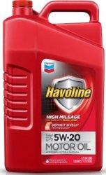 Havoline 5-Quart High Mileage Motor Oil for $12