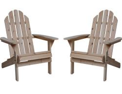 Fir Wood Adirondack Chair 2-Pack for $80