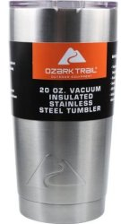Ozark Trail 20-oz. Stainless Steel Tumbler for $8