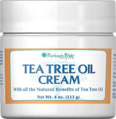 Puritan's Pride Tea Tree Oil Cream 4-oz. Jar $6