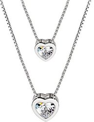 J.Rosee Double Layer Heart Necklace for $14
