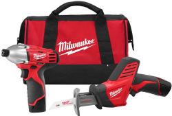 Milwaukee M12 12V 2-Tool Combo Kit for $159