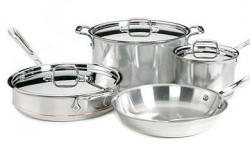 All-Clad 7-Piece Copper Core Cookware Set for $480