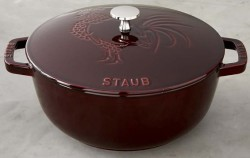 Staub Cast-Iron Rooster-Design French Oven $150
