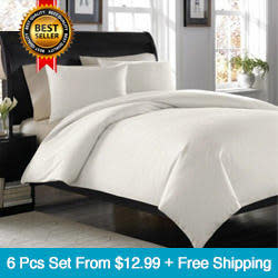 Refael Collection Deep Pocket Bed Sheet Sets from $13 + free shipping