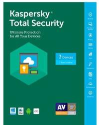 Kaspersky Total Security 3-User for PC/Mac for $0 after rebate + $3 s&h
